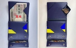 abrAsus薄い財布の収納