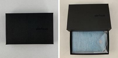 abrAsus薄いカードケースの箱