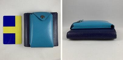 abrAsus薄いカードケースのサイズ(薄い財布に装着)
