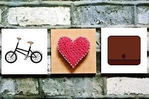 自転車とミニ財布
